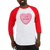 I Luv JOANA Candy Heart Baseball Jersey