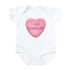 I Luv CHARLIZE Candy Heart Infant Bodysuit