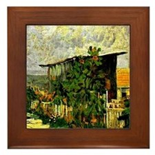 Cute Sunflower van gogh Framed Tile