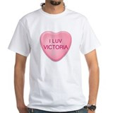 I Luv VICTORIA Candy Heart Shirt