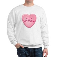 I Luv VICTORIA Candy Heart Sweatshirt