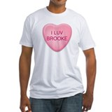 I Luv BROOKE Candy Heart Shirt