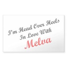 In Love with Melva Rectangle Decal