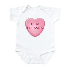 I Luv BREANNA Candy Heart Infant Bodysuit