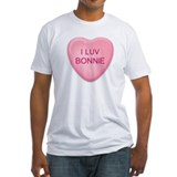 I Luv BONNIE Candy Heart Shirt