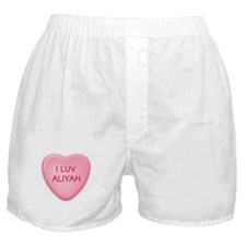 I Luv ALIYAH Candy Heart Boxer Shorts