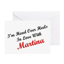 In Love with Martina Greeting Cards (Pk of 10)