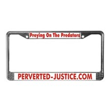 Perverted-Justice.com License Plate Frame