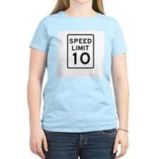 Speed Limit 10 - USA Women's Pink T-Shirt