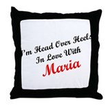 In Love with Maria Throw Pillow