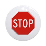 Stop - USA Ornament (Round)