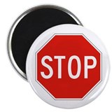 "Stop - USA 2.25"" Magnet (10 pack)"