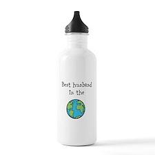 Best husband in the world Water Bottle