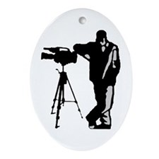Cameraman Logo Oval Ornament