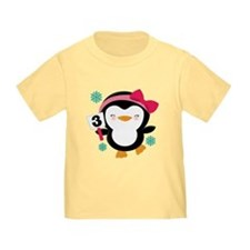 3rd Birthday Penguin T