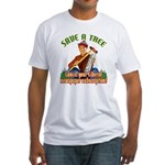 Save A Tree! Fitted T-Shirt