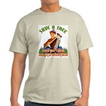 Save A Tree! Ash Grey T-Shirt