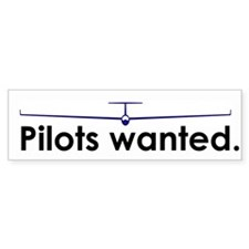 """Pilots wanted."" Bumper Bumper Sticker"
