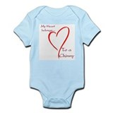 Chin Heart Belongs Infant Bodysuit