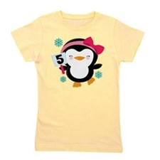 5th Birthday Penguin Girl Girl's Tee