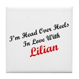 In Love with Lilian Tile Coaster