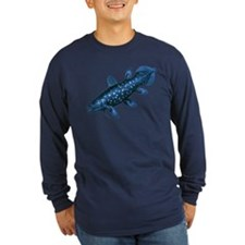 Coelacanth Long Sleeve Black T-Shirt