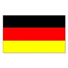 "German Flag Sticker, 3""x5"""