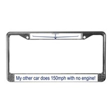 """150mph, No Engine"" License Plate Frame"