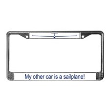 """Other Car is Sailplane"" License Plate Frame"