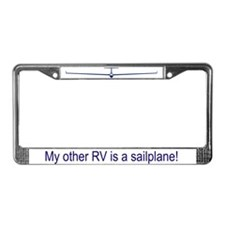 """Other RV is Sailplane"" License Plate Frame"