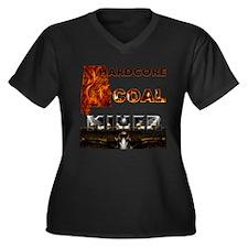 Cool Coal miner's wife Women's Plus Size V-Neck Dark T-Shirt