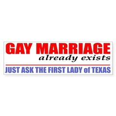 """Gay Marriage already exists . . ."""