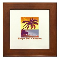 Cute Carmen Framed Tile