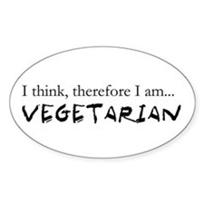 I think therefore I am Vegeta Oval Decal