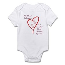 Cavalier Heart Belongs Infant Bodysuit