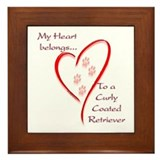 Curly Coated Heart Belongs Framed Tile