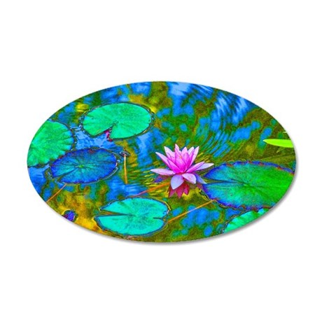 Lilypad Lotus Waterlily Bright Pink Wall Decal