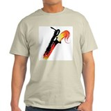 Hot Baritone Sax Ash Grey T-Shirt