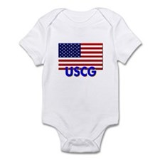 USCG (with flag) Infant Bodysuit