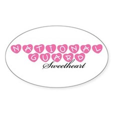 National Guard Sweetheart Oval Decal