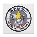 National Police France Tile Coaster