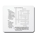 Geeks Crossword Puzzle Mousepad