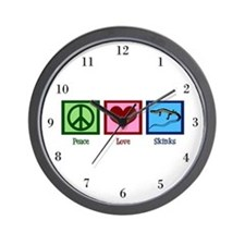 Peace Love Skinks Wall Clock
