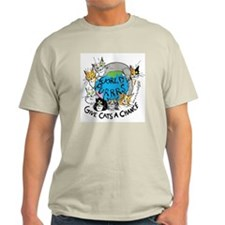 World Purrs Ash Grey T-Shirt