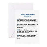 Social Work Etiquette Greeting Cards (Pk of 10