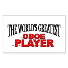 """The World's Greatest Oboe Player"" Decal"