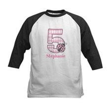 Personalized Pink Ladybug 5th Birthday Tee