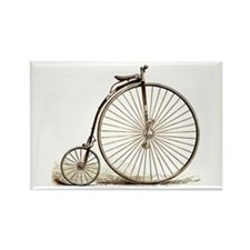 Penny Farthing Rectangle Magnet