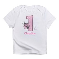 Personalized Pink Ladybug 1st Birthday Infant T-Sh