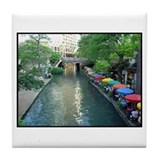 San Antonio Riverwalk Tile Coaster